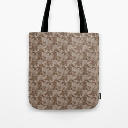 Abstract Geometrical Triangle Patterns 2 Benjamin Moore 2019 Trending Color Kona Chocolate Brown AF- Tote Bag