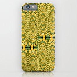 Geometric sunflowers iPhone Case