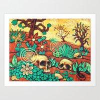 desert Art Prints featuring Desert by Sherdeb Akadan
