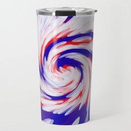 USA Red White Blue swirl Travel Mug