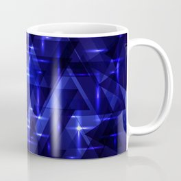 The heart of the ocean and the blue intersections on a dark background of metal. Coffee Mug
