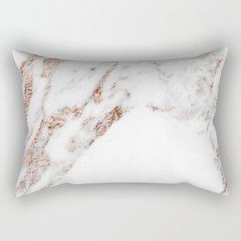 Rose gold foil marble Rectangular Pillow
