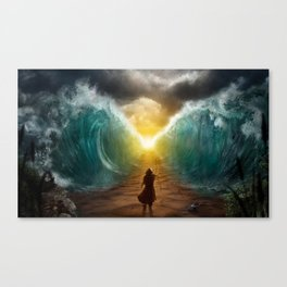 Moses splits the sea Canvas Print