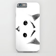 Cat with eyebrows iPhone 6s Slim Case