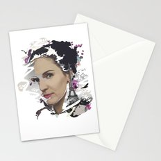 Woman in Paris Stationery Cards