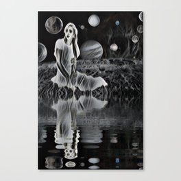The Ghost of a Goddess, Ghostly Planetary Smoke of Dreams Canvas Print