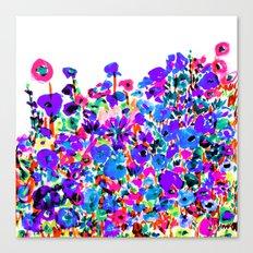 Flower Fields Blue Canvas Print