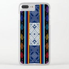 Shipibo Pattern Clear iPhone Case