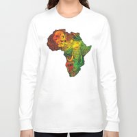 africa Long Sleeve T-shirts featuring Africa by RicoMambo