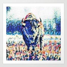 impressionist Bison Art Print