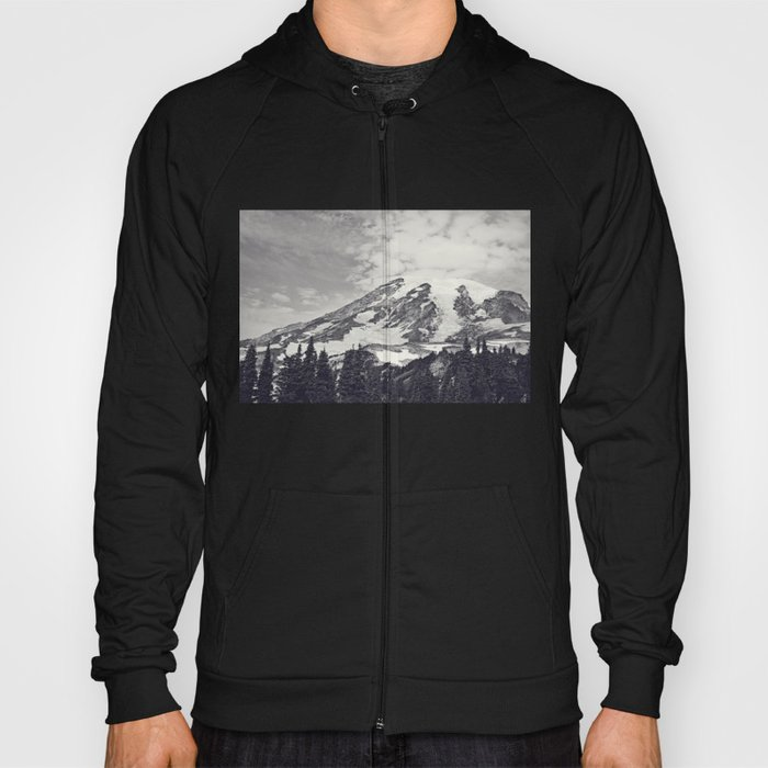 Mount Rainier B&W Hoody
