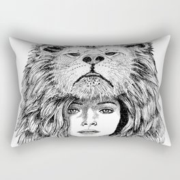 Lion Lady Rectangular Pillow