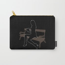 Sexy Girl Reading (black bg) Carry-All Pouch