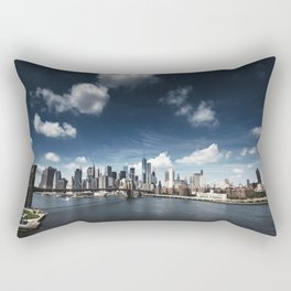nyc skyline panoramic view Rectangular Pillow