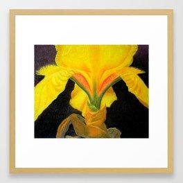 PORTRAIT OF AN IRIS Framed Art Print