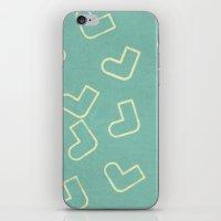 socks iPhone & iPod Skins featuring Socks by sinonelineman