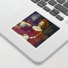 Joanna of Aragon by Raphael Sticker