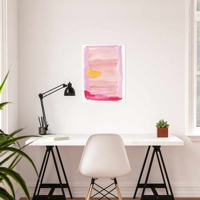 180815 Watercolor Rothko Inspired 10| Colorful Abstract | Modern Watercolor Art Poster