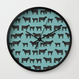 Angus Cattle breed farm gifts must have cow animal Wall Clock