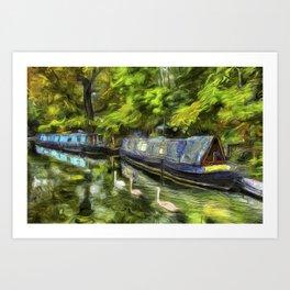 Narrow Boats Little Venice art Art Print