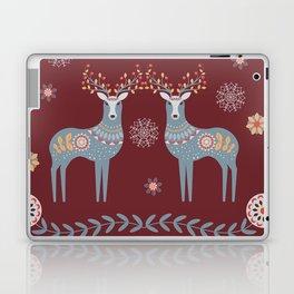 Nordic Winter Red Laptop & iPad Skin