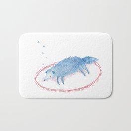 Sleeping Blue Dog Bath Mat