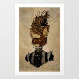 High-Class Victorian Cat Art Print