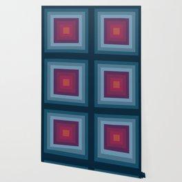 Dark Rainbow Squares Wallpaper