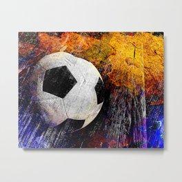 Soccer ball vs 7 Metal Print