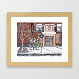 to the march Framed Art Print