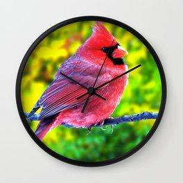 Wonderful Lovely Red Little Creature Zoom Ultra HD Wall Clock