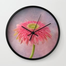 Pink in the Garden Wall Clock