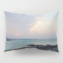 Sunset Bird hair cloud on the jeju island sea in Korea. Pillow Sham