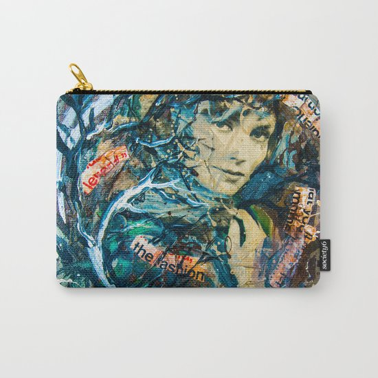 the woman's face #2 Carry-All Pouch