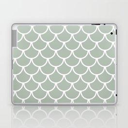 Neutral Green Fish Scales Pattern Laptop & iPad Skin