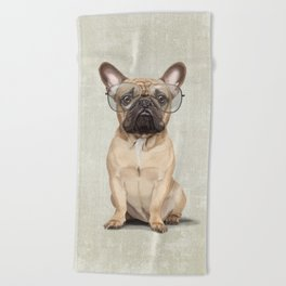 Mr French Bulldog Beach Towel