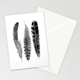 Feather Trio | Black and White Stationery Cards