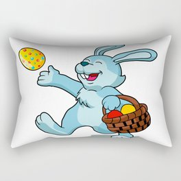 rabbit with Easter basket Rectangular Pillow