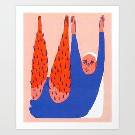 Like, One Sit-Up Art Print