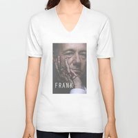 frank underwood V-neck T-shirts featuring Frank Underwood / House of Cards by Earl of Grey