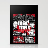 gta Stationery Cards featuring Mashup GTA Mad Max Fury Road by Akyanyme