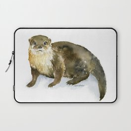 River Otter Watercolor Laptop Sleeve