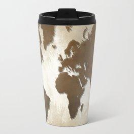 Design 64 World map brown sepia Travel Mug