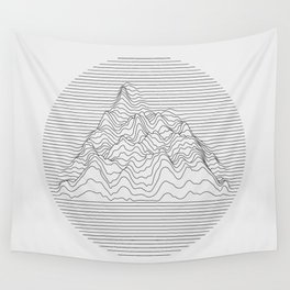 Mountain lines Wall Tapestry