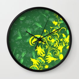 Abstract floral ornament and background Wall Clock