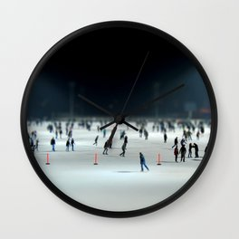 Budapest Ice Rink Wall Clock