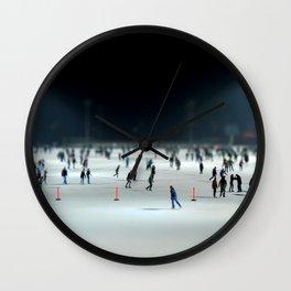 Budapest Ice Rink Wall Clock