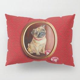 Pug on the damask Pillow Sham