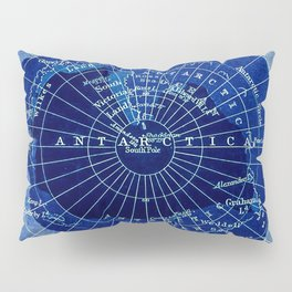 South Pole Neon Map Pillow Sham