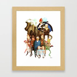 The League of Absolute Evil! Framed Art Print